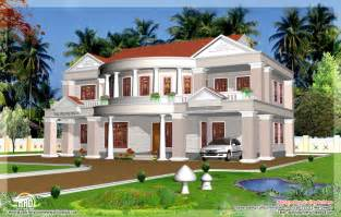 big homes for 2992 sq big house elevation kerala home design and