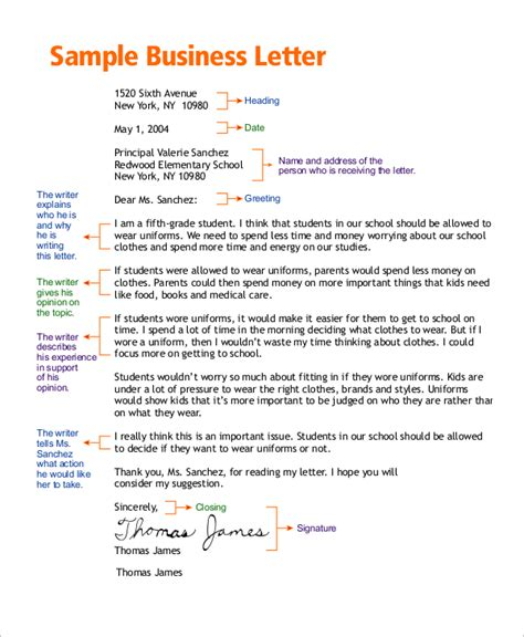 Official Letter Format For Clarification Business Letter Sle 8 Exles In Word Pdf