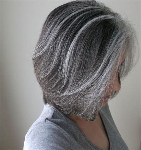 Photographs Of Grey Hair With Highlights | 38 best highlights images on pinterest grey hair going