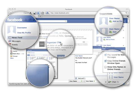 แจกฟร psd ของ ui เว บไซต facebook รวม interface ท กแบบ