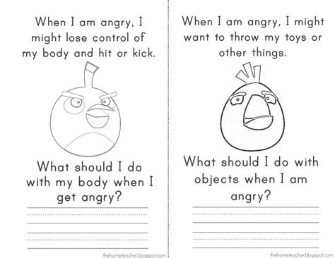 angry birds anger management worksheets 73 best anger management activities for children images on