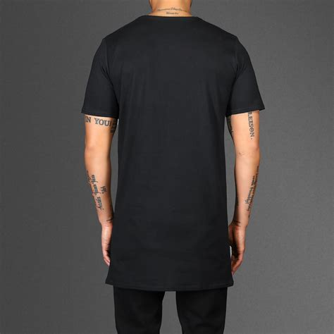 T Shirt Zipper Black longline black zip t shirt wehustle menswear
