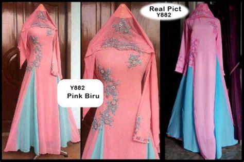 Real Pict Gamis Manual Bordir Terbaru gaun pesta rowena bordir p882 baju gamis pesta cantik murah