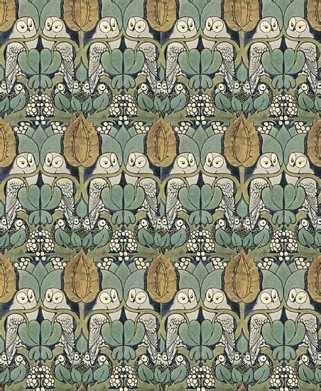 wallpaper craft com the owl wallpaper designed by cfa voysey during the arts