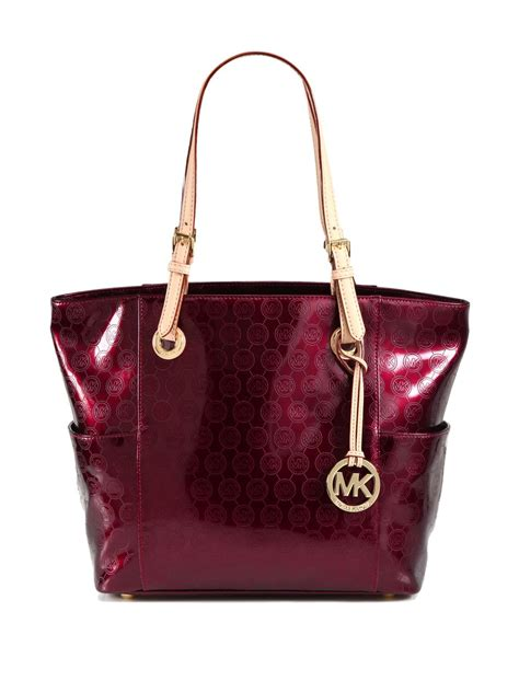 Michael By Michael Kors Ranger Patent Bag by Lyst Michael Michael Kors Signature Patent Leather Tote