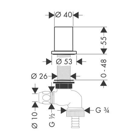 Robinet D Arret Pour Machine A Laver by Axor Accessoires Robinet D Arr 234 T Pour Machine 224 Laver