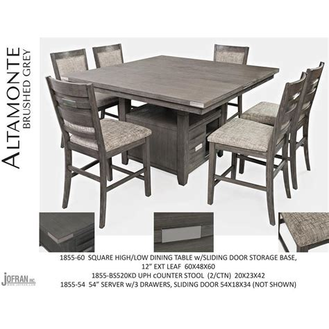 jofran altamonte square counter height table