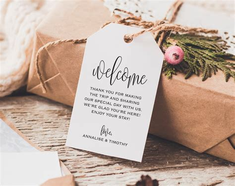 Wedding Gift Tags by Welcome Wedding Tag Wedding Welcome Bag Tag Wedding Welcome