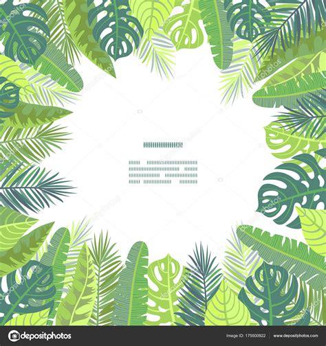 illustrator jungle tutorial card on tropical jungle leaves theme stock vector