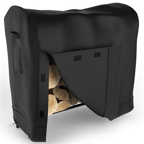 Cover For Wood Rack by 4 Foot Black Water Resistant Firewood Log Rack Cover