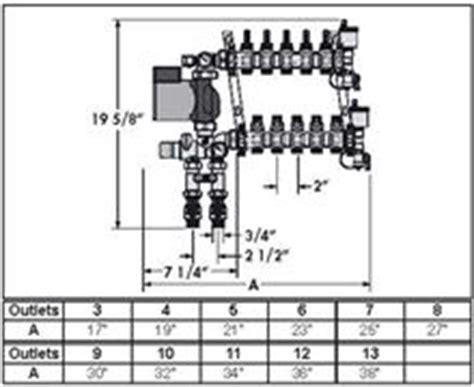 pex manifold diagram caleffi 1725e1a mixing module station pex manifold 3 8