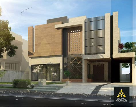 architectural design of 1 kanal house contemporary residence at park view by maa wa architects