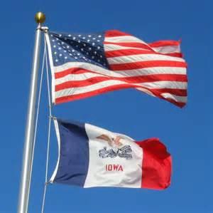 of iowa colors iowa state flag state of iowa