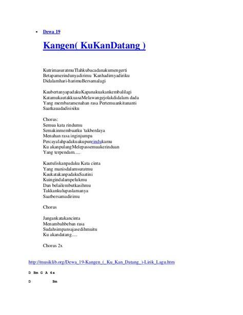 download mp3 dewa 19 kangen versi once chord lagu dewa kangen lirik lagu dewa 19 kangen dan