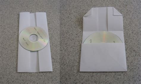 How To Make A Paper Cd Sleeve - diy cd or dvd made from folded of paper