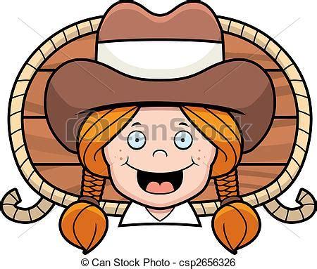 imagenes vaqueras en caricatura clip art de vectores de vaquera sonriente un