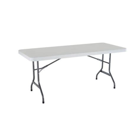Lifetime 6 Foot Folding Table Lifetime 6 Ft Commercial Plastic Folding Banquet Table White 22901