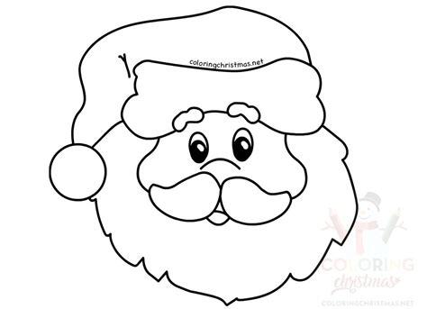 Simple Santa Coloring Page