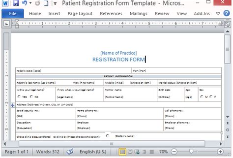Free Patient Registration Form Template Form Templates Microsoft Word