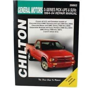 new chilton manual s 10 blazer s10 chevy chevrolet