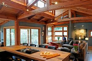 Timber Frame Home Interiors by Timber Frame Timber Frame Home Interiors New Energy Works