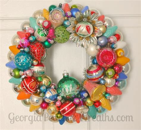 six christmas wreaths to inspire sweet pea 331 best images about vintage christmas ornament wreaths