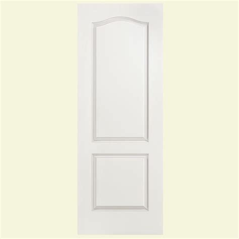 Arch Top Interior Doors Masonite 28 In X 80 In Smooth 2 Panel Arch Top Hollow Primed Composite Interior Door Slab