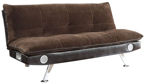 braxton velvet brown sofa bed from coaster 500047