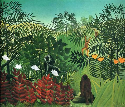 singes Artwork française traditionnelle rousseau art henri