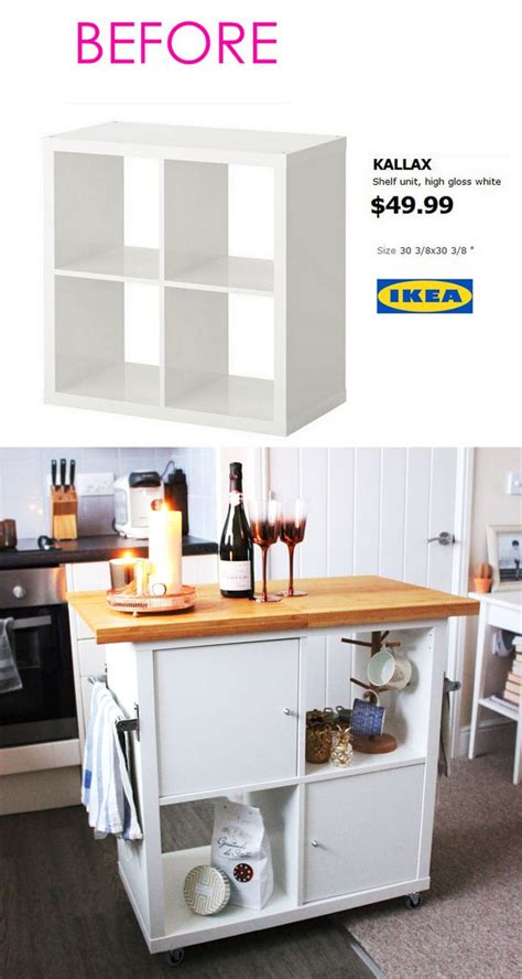 diy ikea hack kitchen island tutorial construction 2 20 smart and gorgeous ikea hacks great tutorials