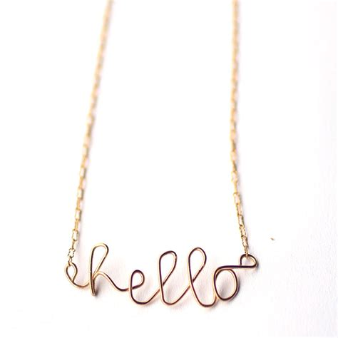 Handmade Wire Necklaces - hello jou jou my