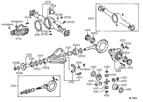 1987 Toyota Parts Catalog Toyota Rear Axle Housing Differential