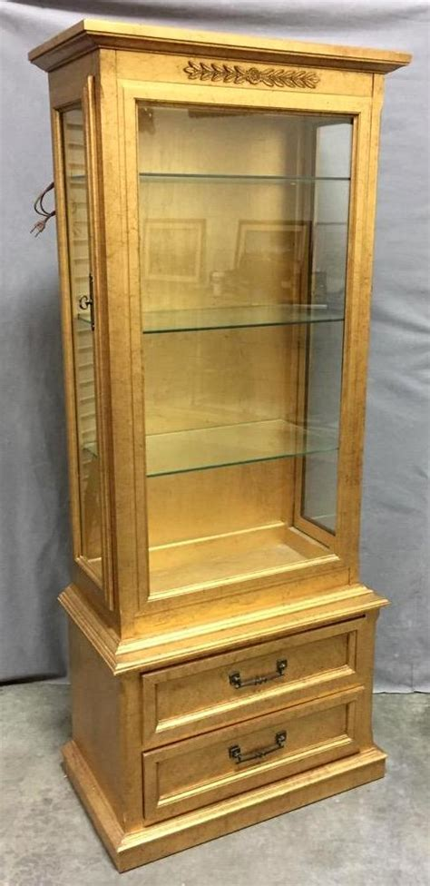 beautiful gilded lighted china cabinet by sanford furniture