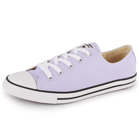 lilac shoes converse chuck dainty ox womens canvas trainers