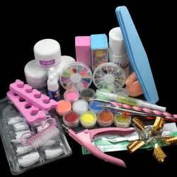 at home acrylic nail kit 24in1 acrylic nail tips kit liquid buffer glitter