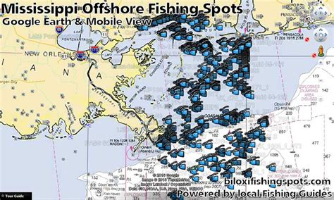 mississippi fishing map and fishing spots