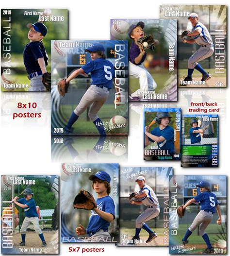photoshop baseball card template arc4studio baseball signature