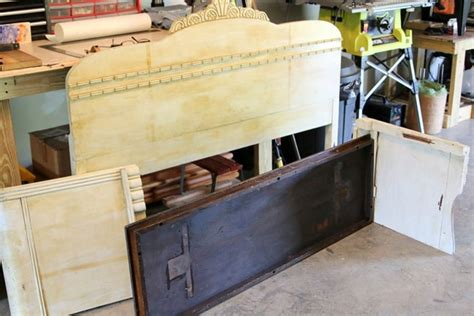 how to make a wood headboard and footboard how to make a headboard bench from a vintage bed petticoat