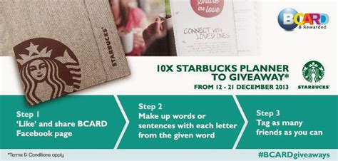 design contest malaysia 2014 bcard quot starbucks planner 2014 quot contest malaysia online