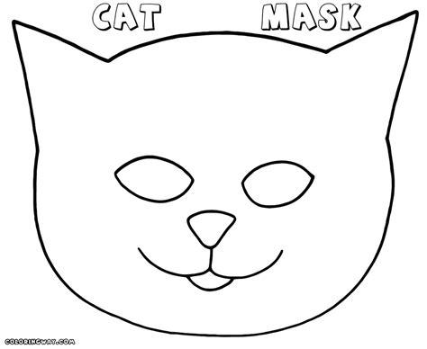 cat mask coloring page cat mask coloring page
