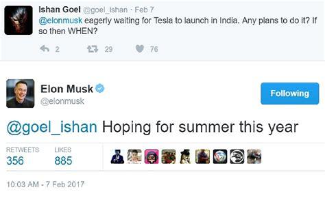 elon musk zipline tweet musk tweets tesla will be going to india