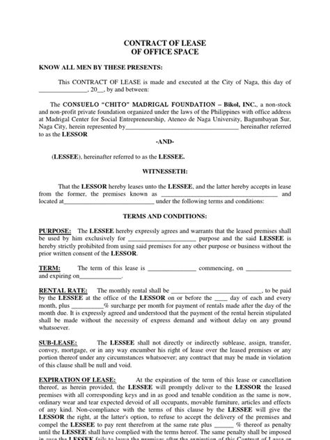 lease agreement for office space template lease agreement for office space template images