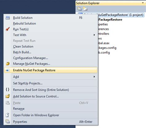 reset visual studio 2013 settings from command prompt nuget exe