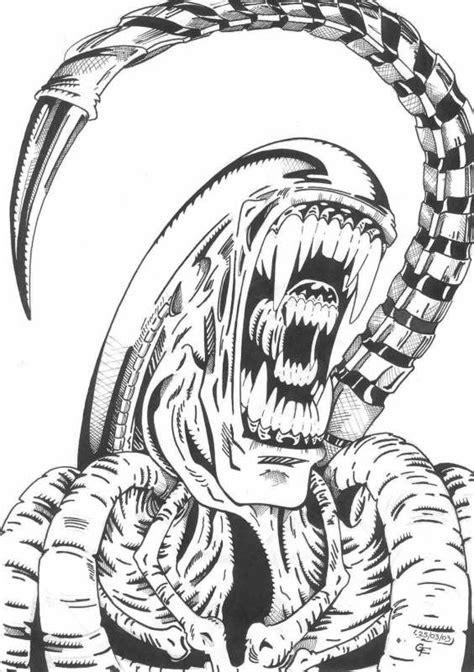 artwork avp universe alien drawings predator art