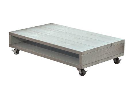 salontafel 80 x 120 verrijdbare steigerhout salontafel 80 x 120 x 25 cm