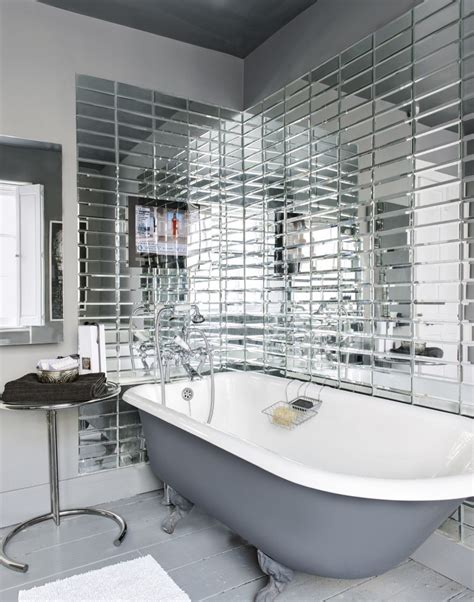 Refresh And Revitalise Your Bathroom With Glamorous Tiles Mirrored Bathroom Tiles