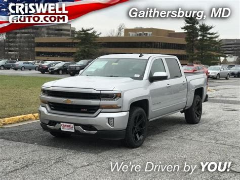silver ice metallic  chevrolet silverado   sale  gaithersburg md criswell