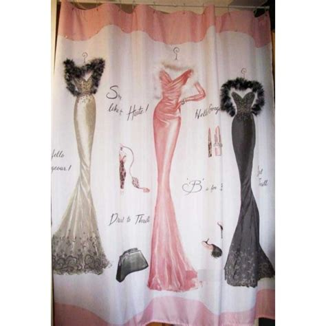 dressed to thrill shower curtain dressed to thrill shower curtain