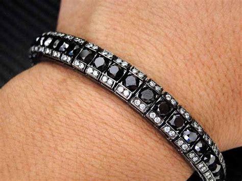 black diamond tennis bracelet   Luxurious Sporty Diamond Tennis Bracelet ? Jewelry Design Blog