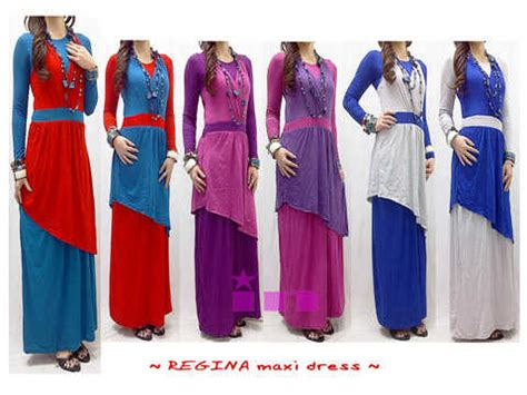 Dress Murah Olla By Akcstore big sale rahma o shop supplier baju hijabers